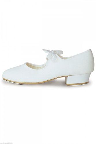 Roch Valley Tap Shoes Low Heel  White Fitted  Toe and Heel Taps